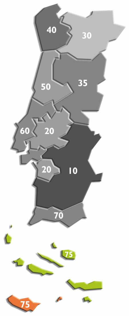 Ilhas - Regiões Autónomas da Madeira e dos Açores
